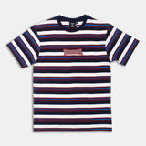 Retro Striped Tee (Navy/Red/Wte) / D4