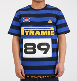 Game Stripe Tee (Royal Blue) / D17