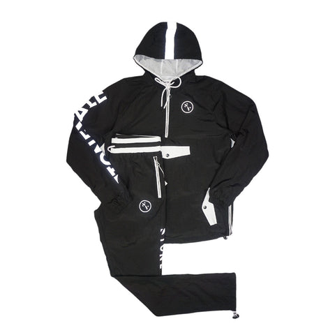 Warm Up Nylon Track Suit (Black) /MD1
