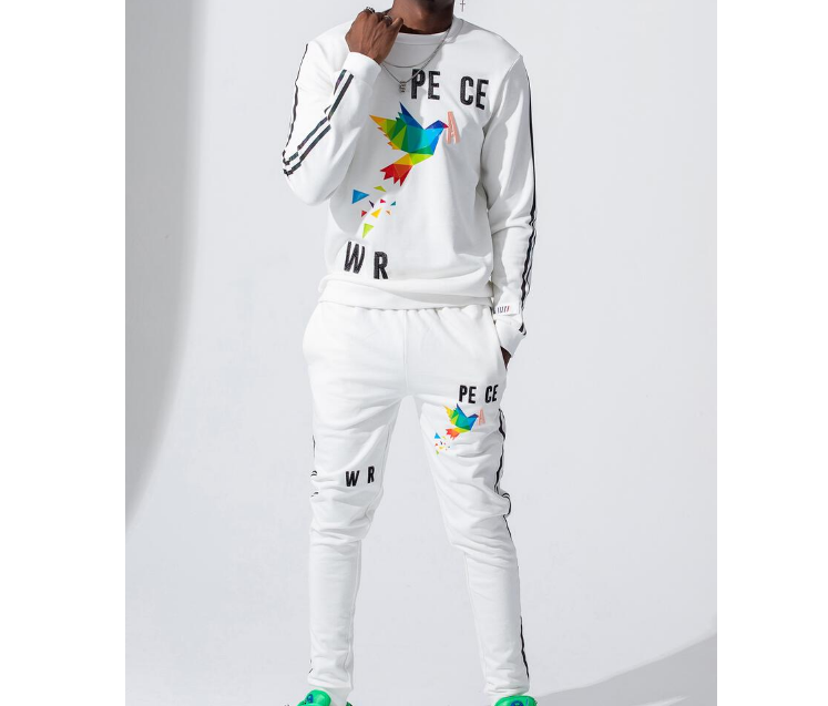 Peace L/S Crew Set (White) /D4
