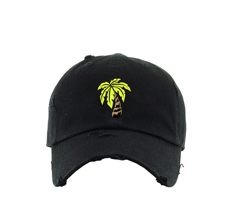 Palm Dad Hat (Black)