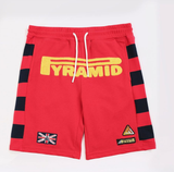 Kids Game Stripe Shorts (Red) / MD2