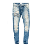 Ansel Distressed Wash Denim (Blue) /C6