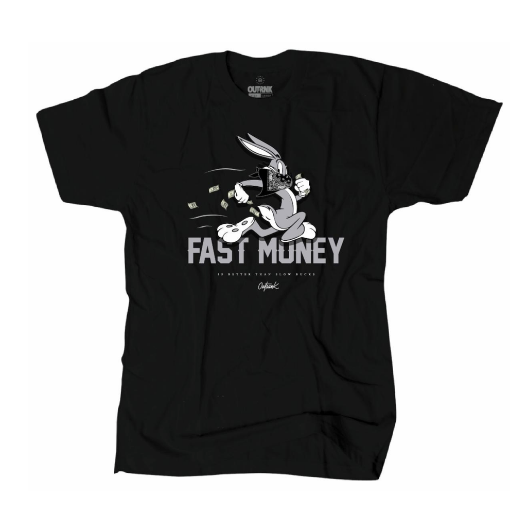 Fast Money Tee (Blk/Grey)