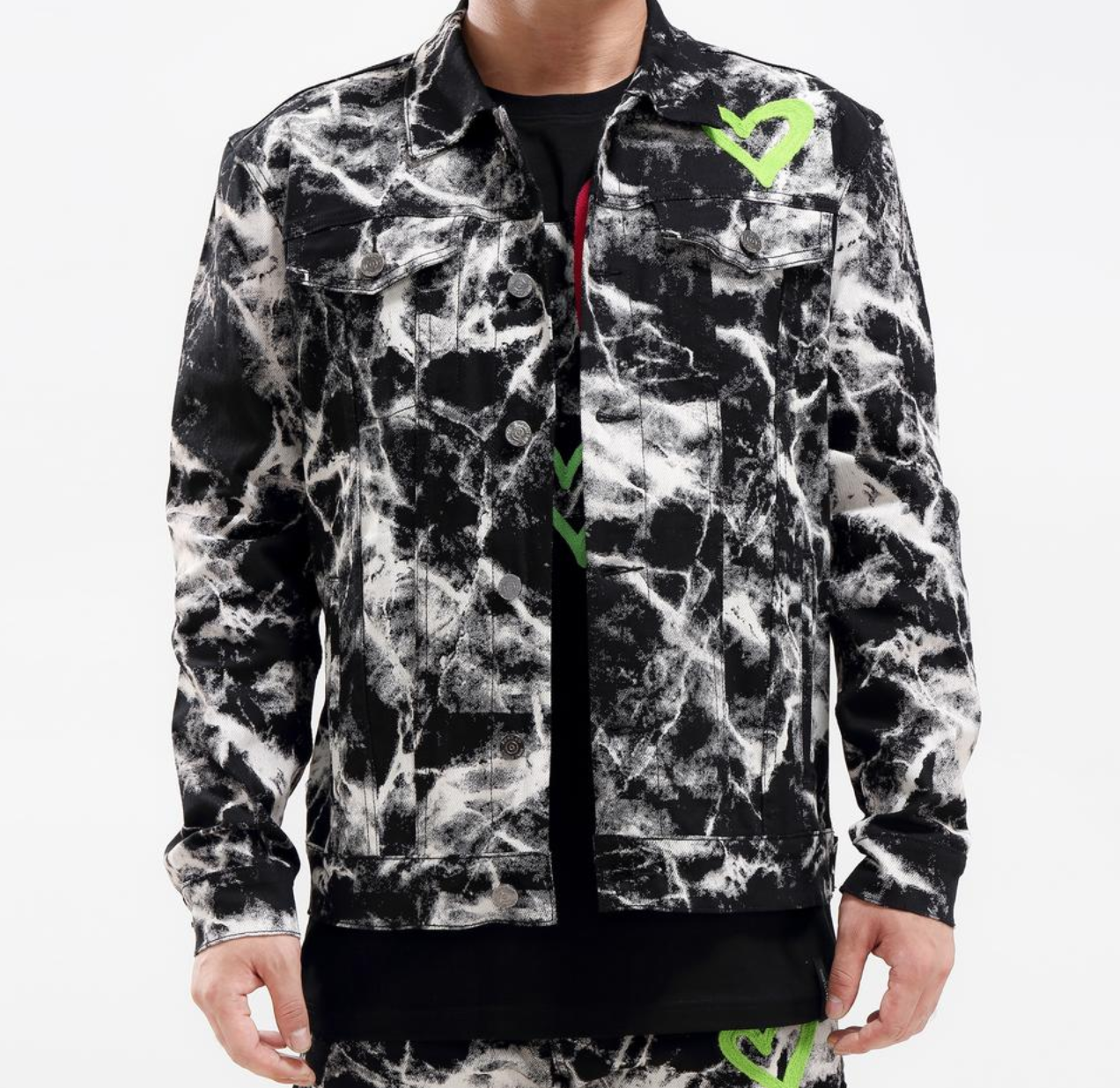 Love Tie Dye Jacket (Black) /D4