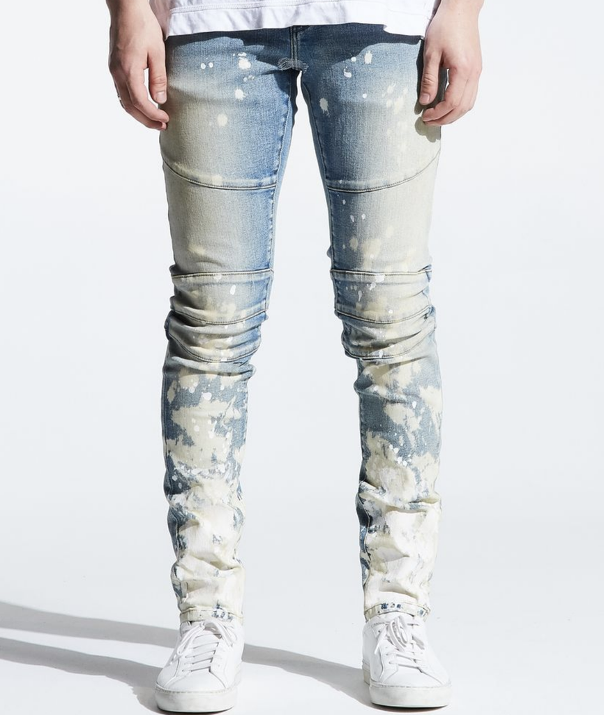 Splatter Bleach Montana Denim (Indigo Paint) /C?