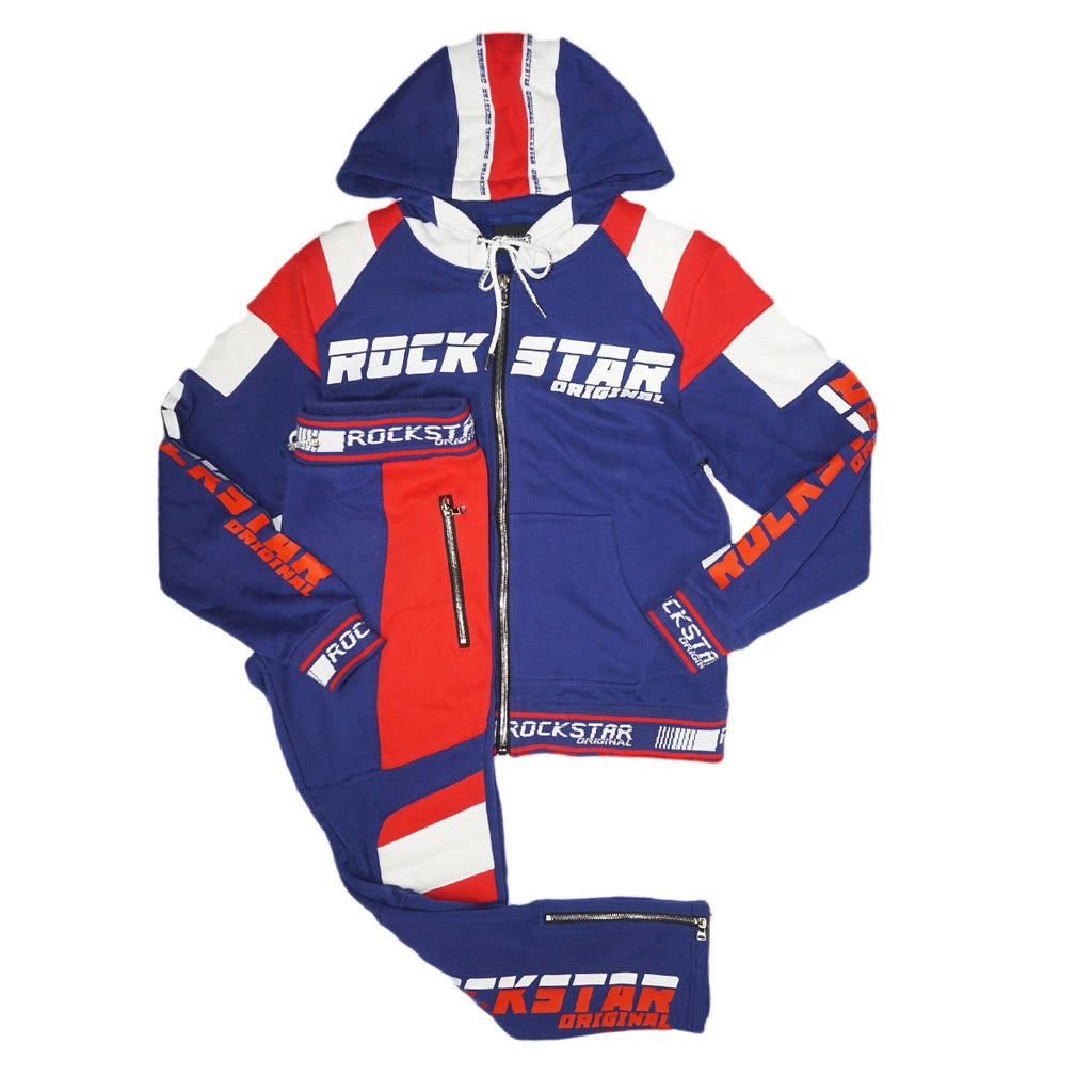 Rockstar Adyn Blue Track Suit (Blue/Red/Wte)/MD1