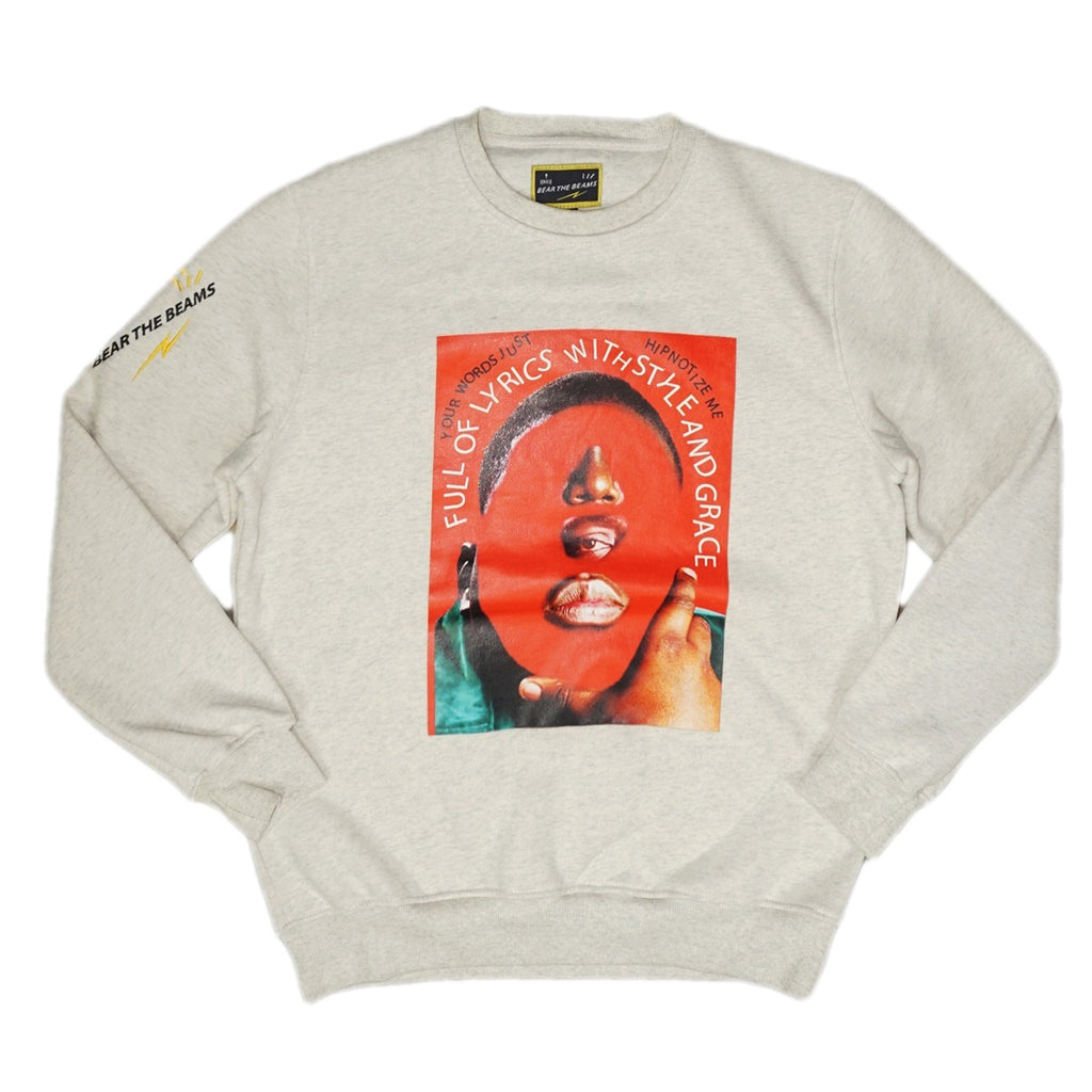 Biggie Collage Crewneck (Lt. Gray) /D5