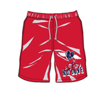 No Love Shorts (Red/Navy) /D12