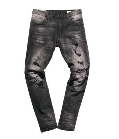 Distressed Wash Denim (Gotham Black) /C6