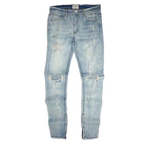 Distressed Vintage Lt Wash Denim (Blue) /C8