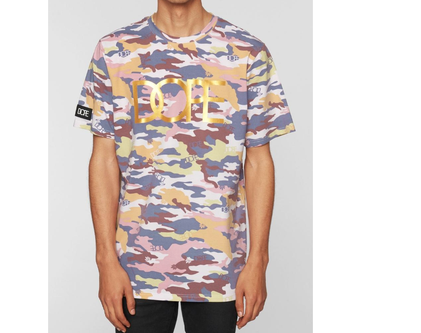 Camo Flock & Foil Tee (Purple) /D4