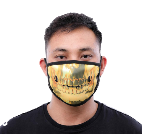 Gold Teeth Face Mask (Gold)