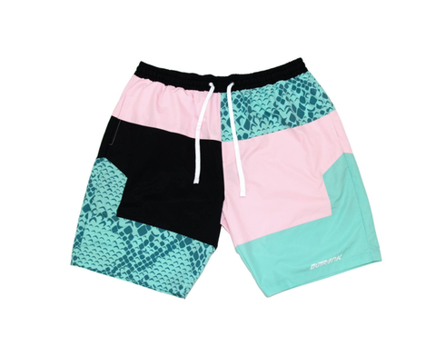 Snake Beach Nylon City Shorts (L.Pink/Mint) /D4