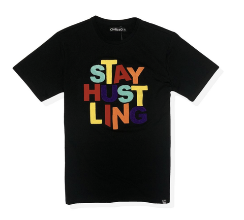 Stay Hustling Tee (Black) / D12