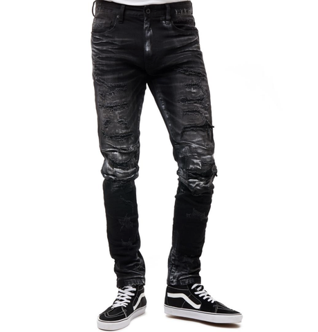 Paint Rip & Repair Denim (Carbon Black) /C6