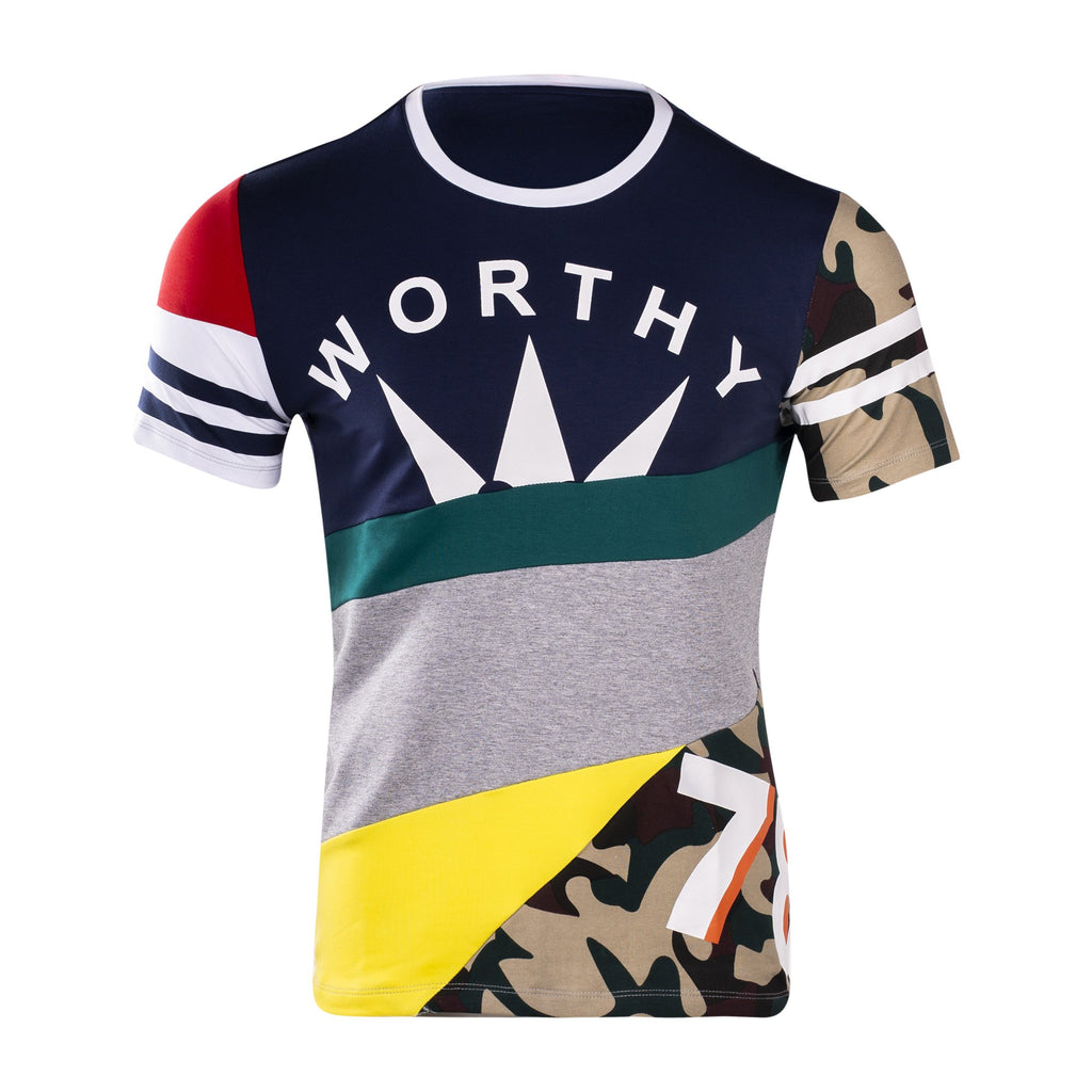 Worthy Tee (Navy/Multi)