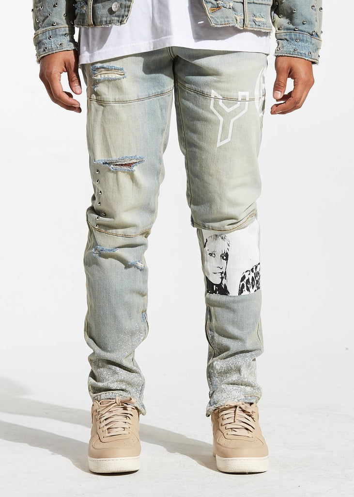Spungen Denim Graffiti Denim (Blue)  /C9