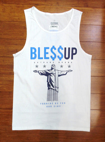 Outrnk- Bless Up Tank (Wte/Blue)
