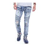 Distressed Biker Denim (Male Indigo) / C5