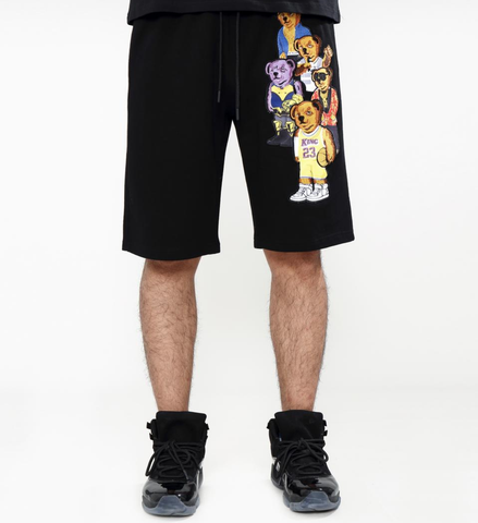 Bear Gang Shorts (Black) /D12