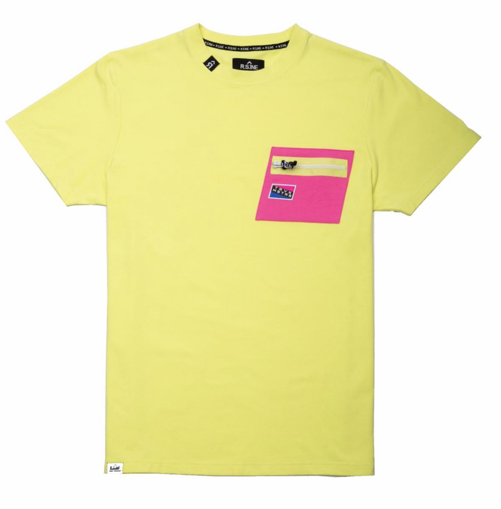 Contrast Color Tee (Lime/Neon Pink) /D4