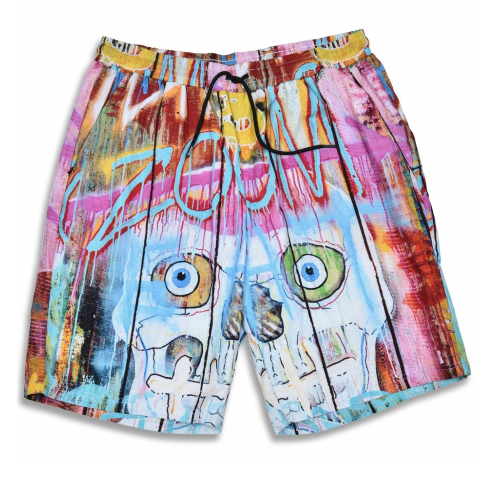 Bonic Skull Fence Shorts (Multi) /D16