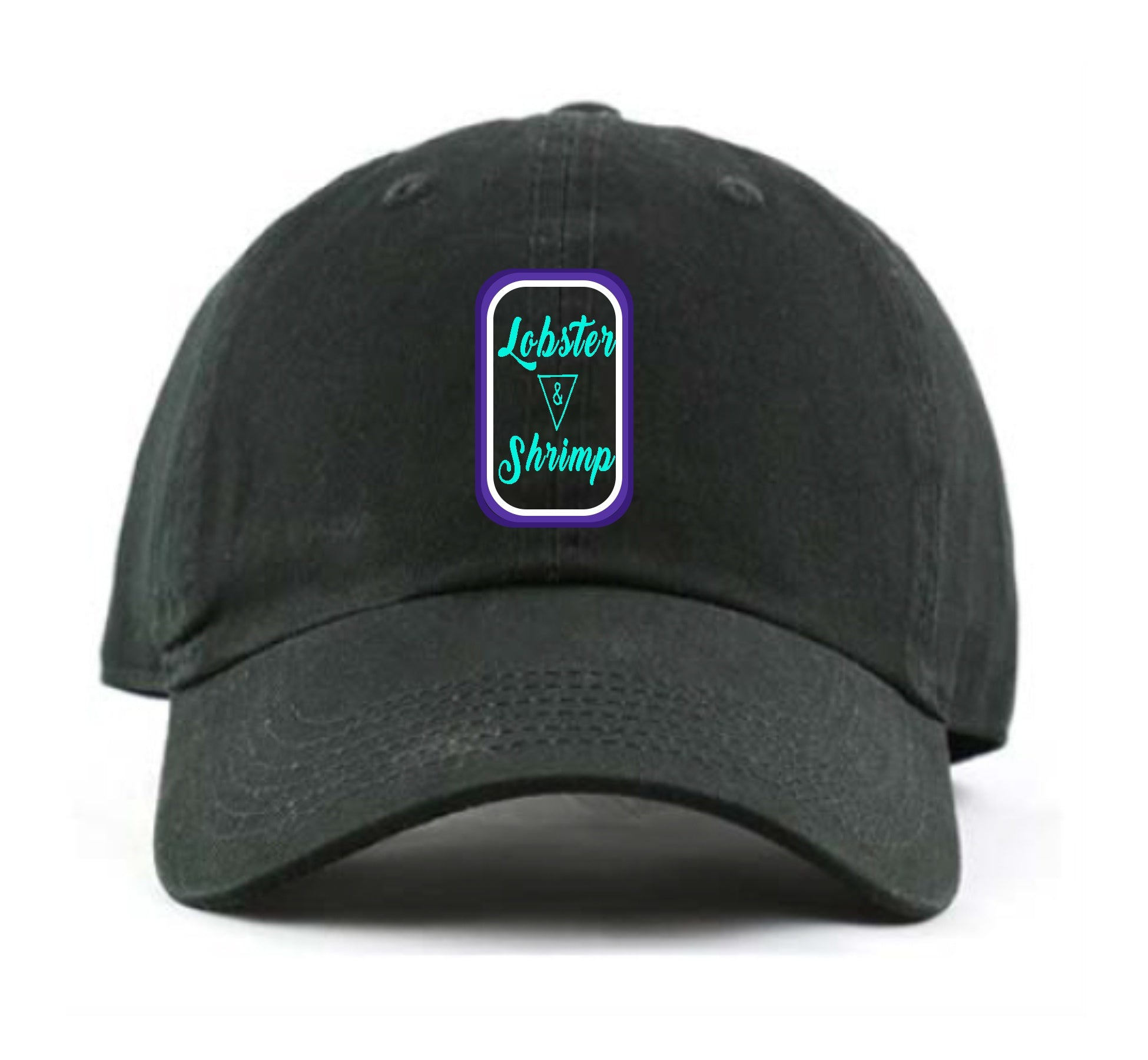 Lobster & Shrimp Dad Hat (Black)