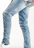 Distressed Pacific Denim (Vintage Stone) /C3