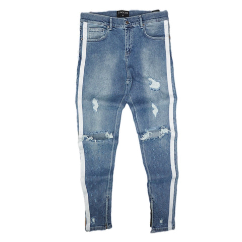 Double Striped Track Jeans V2 (Blue)