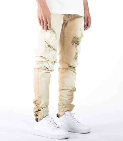 The Union Distressed Pasqua Denim (Khaki) /C3
