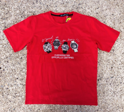 3D Watches Tee (Bright Red) /D15