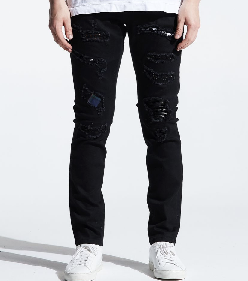 Distressed Stone Atlantic Denim (Black) /C6