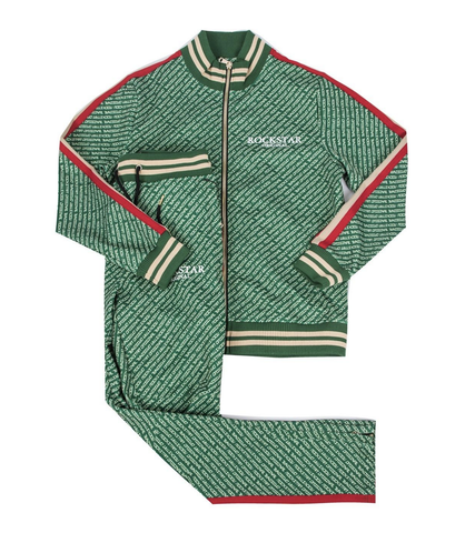 Rockstar Arad Green Track Suit (Green/Red) D5