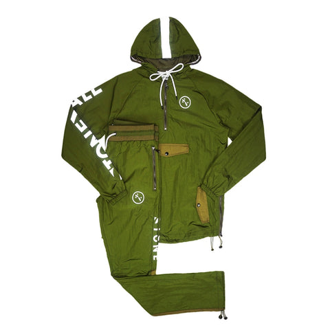 Warm Up Nylon Track Suit (Olive) /MD1