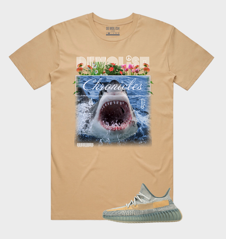 Shark Chronicle Tee (Tan) /D9