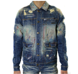 Destroyed Stain Jacket (Dubai Indigo) /C2