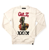 Graffiti Grease Crewneck (White) / D18