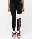 Wmn Moto Blocked Leggings (Black) / MD2
