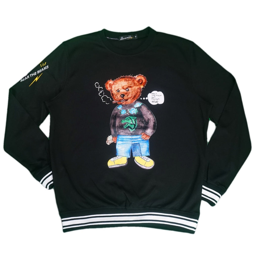 Thug Life Bear Crewneck (Black)