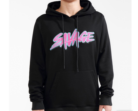 Savage Slash Logo Hoodie (Black) /D16