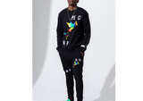 Peace L/S Crew Set (Black)