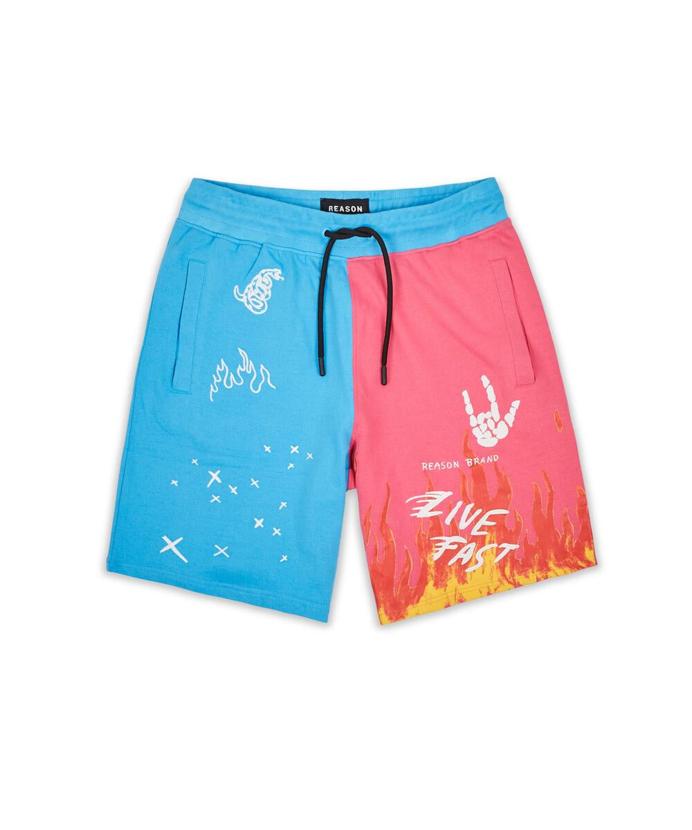 Rules Shorts ( Blue/ Pink) / D1