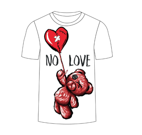 No Love SS Tee (White) / D2