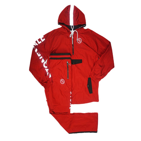 Warm Up Nylon Track Suit (Red) /MD1