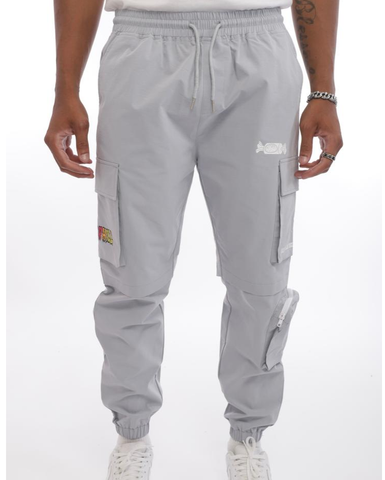 Logo Cargo Pants ( Light Grey) /D6
