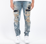 Distressed Signature Carpenter Denim (Blue) /C7