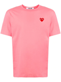 Logo Embroidered Heart Tee (Pink) D9