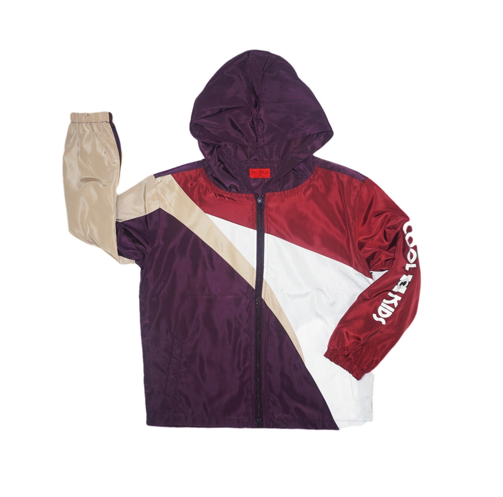 Mason Windbreaker Kids Jacket (Maroon)