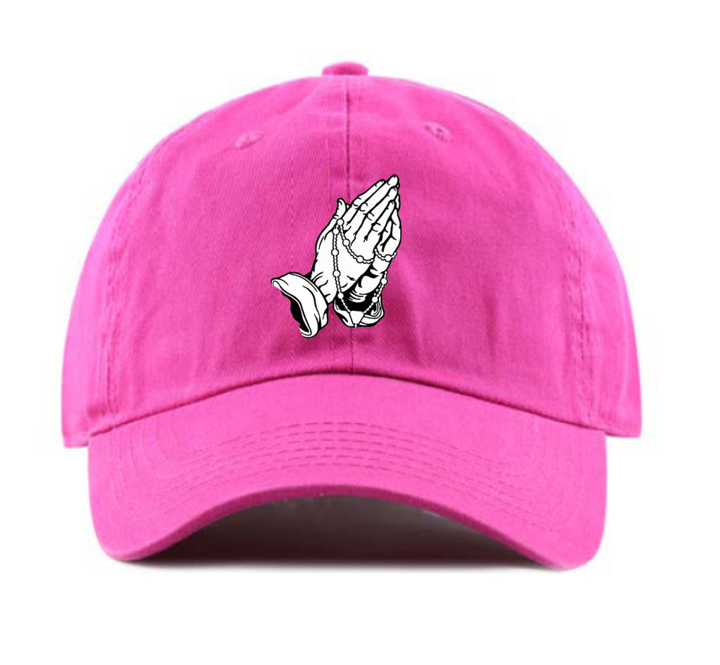 Praying Hands Dad Hat (Pink)